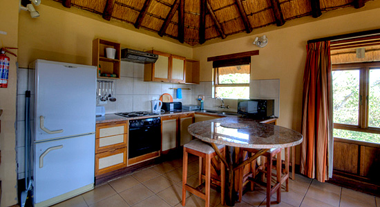 4 Bed Chalet Hilltop Camp Kitchen Hluhluwe iMfolozi Game Reserve South Africa