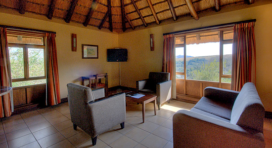 4 Bed Chalet Hilltop Camp LoungeHluhluwe iMfolozi Game Reserve