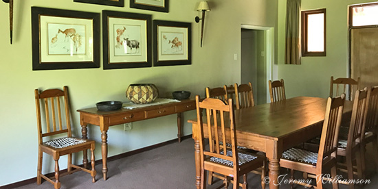 Mtwazi Lodge dining room Exclusive Use Self Catering Hluhluwe iMfolozi Game Reserve KwaZulu-Natal South Africa